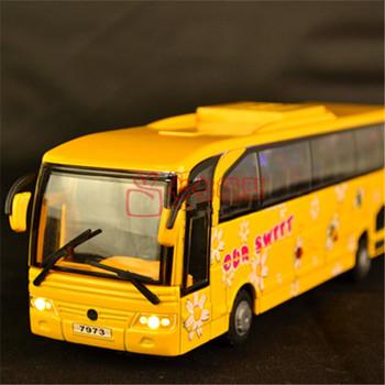 Free shipping 5 door light bus bus alloy bus toy car model school bus