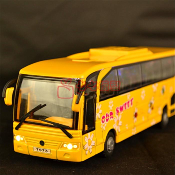 Free shipping 5 door light bus bus alloy bus toy car model school bus(China (Mainland))
