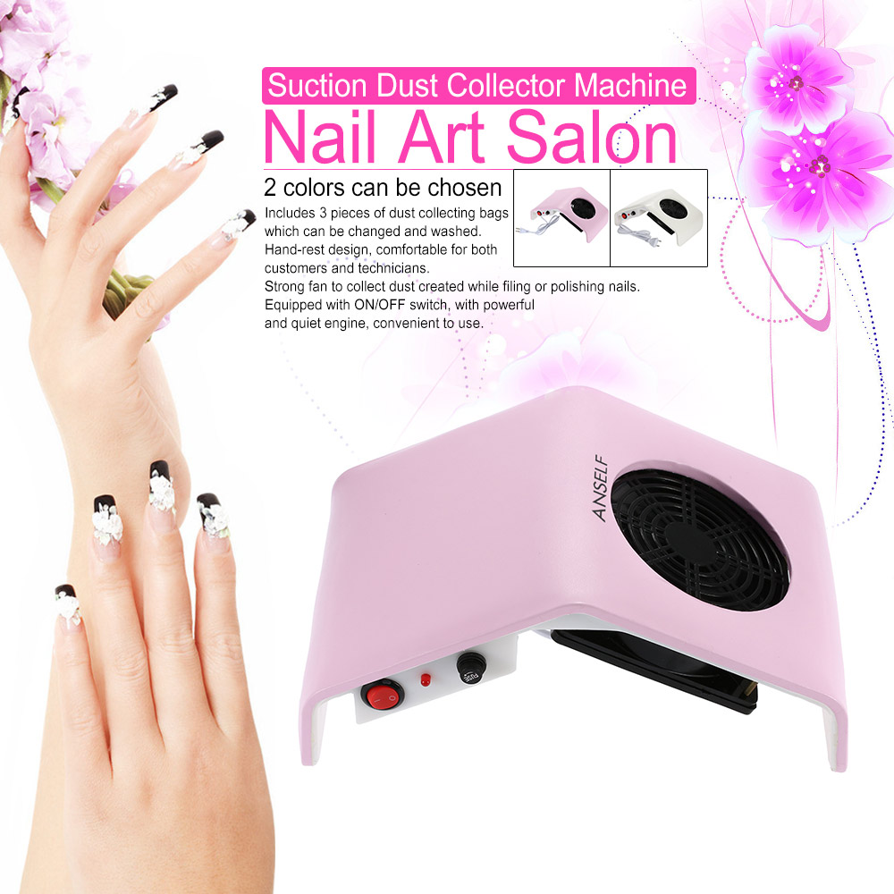 220V/110V Nail Fan Art Salon Suction Dust Collector Machine Vacuum Cleaner Salon Tool Acrylic UV Gel Machine Nail Dust Collector(China (Mainland))