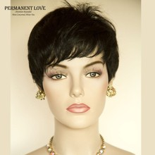 Synthetic hair short wigs for black women female Rihanna hairstyle pixie cut african american short black wigs with side bangs
