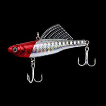 14g 6.5cm 1pcs winter fishing lures hard bait VIB with lead inside lead fish ice sea fishing tackle swivel jig wobbler lure