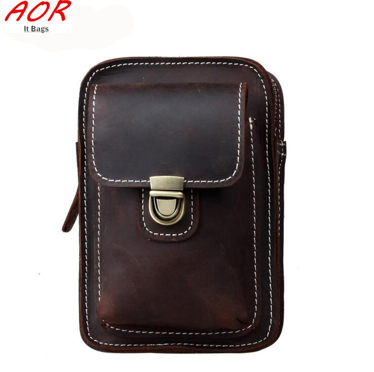Crazy Horse Genuine Leather Men Waist Bag Outdoor Sport Waist Pack Military Tactical Wallet Phone Case  Camping Hiking Climbing<br><br>Aliexpress