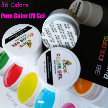 Upgrade  Professional nail art goods  36 Pots Cover Pure Color UV Gel for UV Nail Art Tips Extension  in stock!