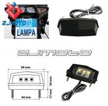 ZJMOTO Motorcycle motorbike SMD White LED number Licence plate tail light fits all year street bike SCOOTER QUAD TRIKE ATV(China (Mainland))