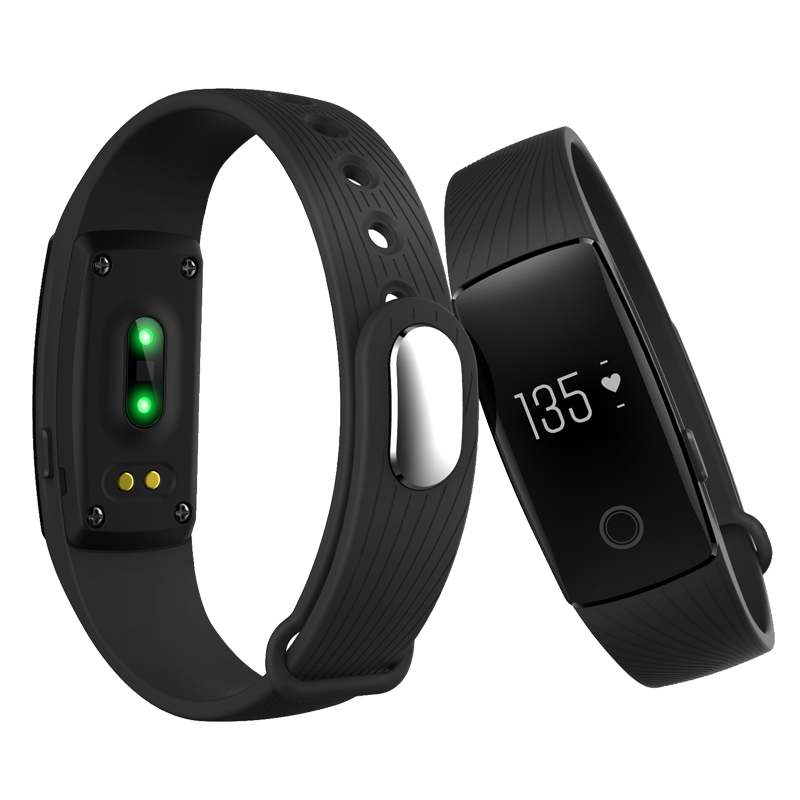 Bluetooth ID107 Heart Rate Monitor Smart Bracelet OLED Wristband Fitness Tracker Band Remote Camera for iPhone 6s Android Mobile(China (Mainland))