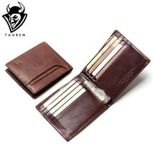 Buy TAUREN RFID BLOCKING New Stylish Men Wallet Genuine Cow Leather Male Bifold Purse Card Pocket RFID Protection for $13.86 in AliExpress store