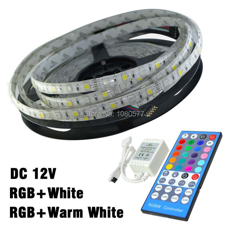 12v SMD 5050 RGBW Led Strip 60 leds/m 300leds 5m Flexible Light RGB + White Color/RGB Warm Color Controller - JY-LED Technology Co.,LTD store