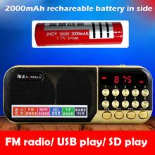 LED Display Mini Pocket FM Radio Digital FM Receiver SD Card/USB Play Directly MP3 Outdoor Kitchen Radio Audio Player