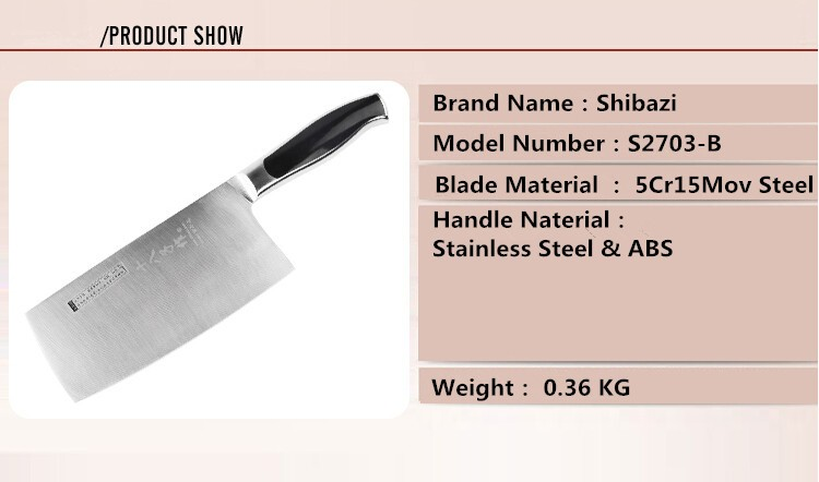 Buy 11-11 Special Offer Shibazi Stainless Steel Kitchen Slicing Meat Vegetable Knife Professional Chef Cleaver Knives For Cooking cheap