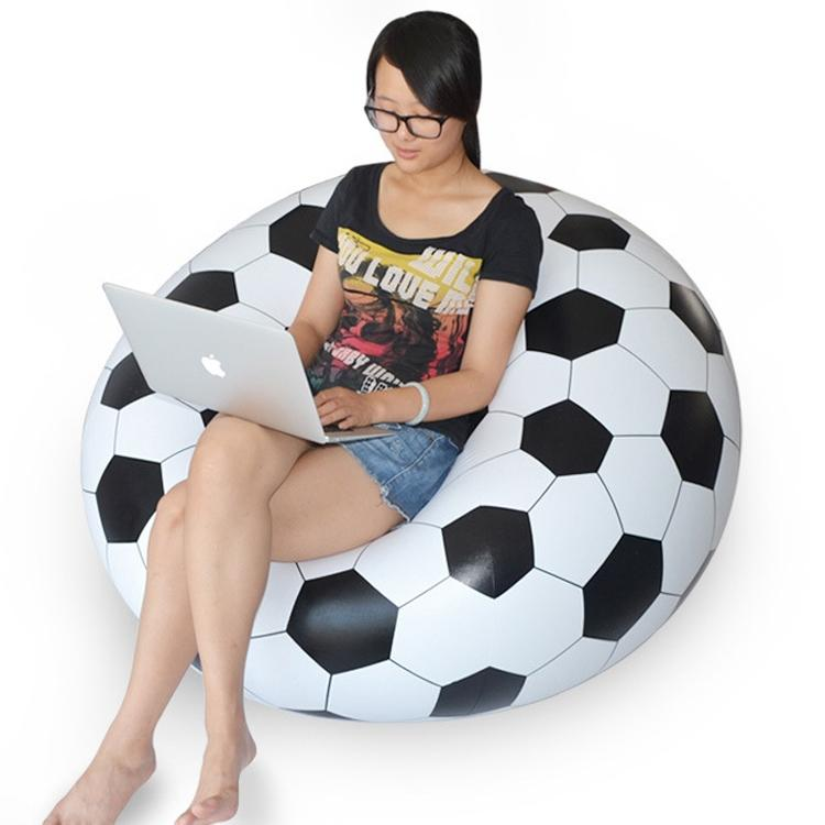 DHL free ship waterproof PVC inflatable seat chairs,instant air filled bean bag chair,football and soccer ball design beanbag(China (Mainland))