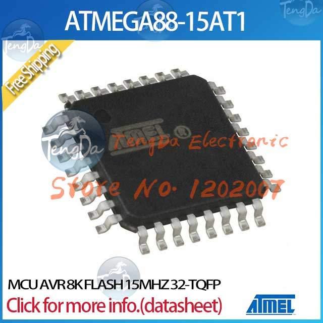 Free Shipping 5PCS/lot ATMEGA88-15AT1 MCU AVR 8K FLASH 15MHZ 32-TQFP(China (Mainland))