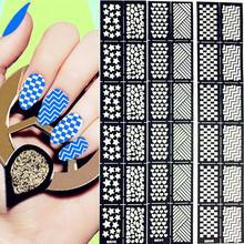 12Tips/Sheet Nail Vinyls Easy Use Nail Art Manicure Stencil Stickers Nail Stickers Nail Tool(China (Mainland))