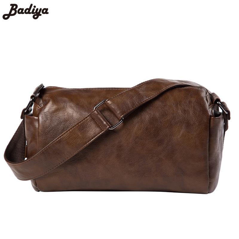 Men Vintage New Messenger Bag Cell Phone Pocket Handbag Large Capacity Shoulder Separated Straps PU Leather Men's Crossbody Bag(China (Mainland))