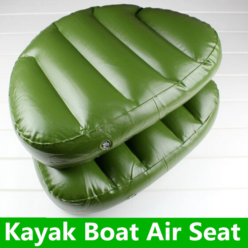 1 Piece Outdoor Camping Water Sports Boat Seat Inflatable Cushion 46*33*10cm Inflatable Alumnium Fishing Boat Kayak Rowing(China (Mainland))