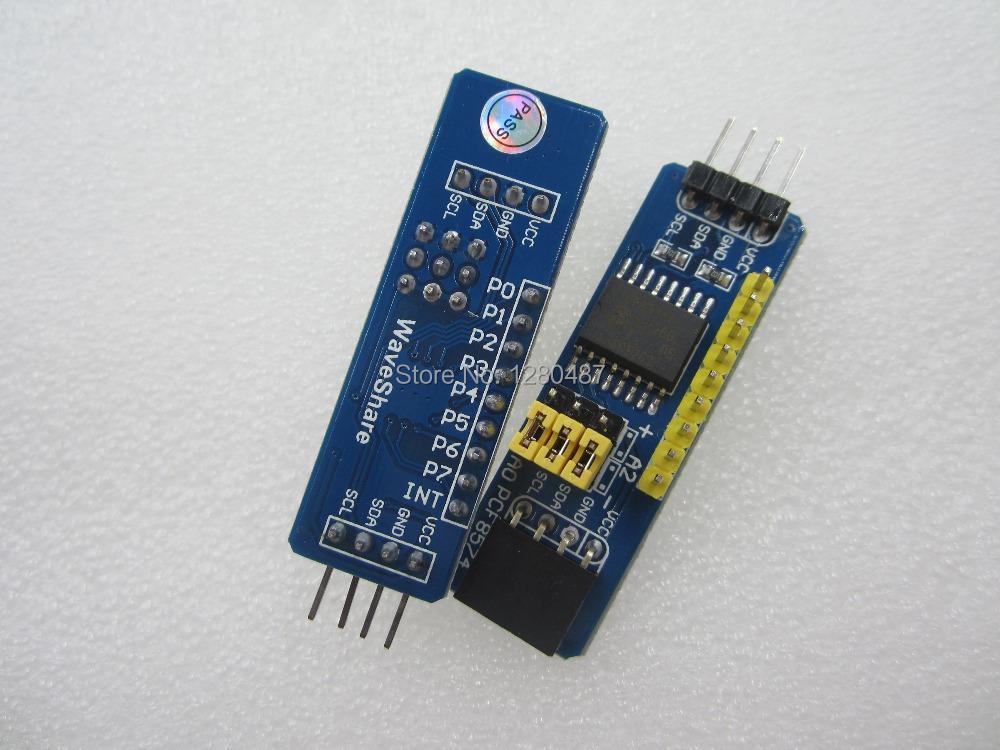 Free shipping 1pcs/lot WaveShare PCF8574T PCF8574 module IO extension module I/O extension module(China (Mainland))