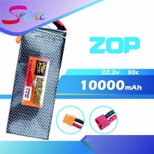 Buy 22.2V 6s ZOP Lipo battery 10000mAh 30C max 35C Xpower XT60 T plug rc drone Helicopter Airplane parts for $98.55 in AliExpress store