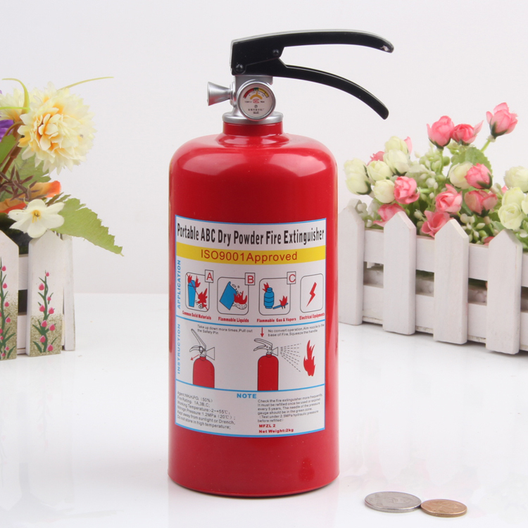 Funny Home Decor,novelty toy Fire Extinguisher Large plastic fire hydrant piggy bank for kid adult saving money box coin cash(China (Mainland))