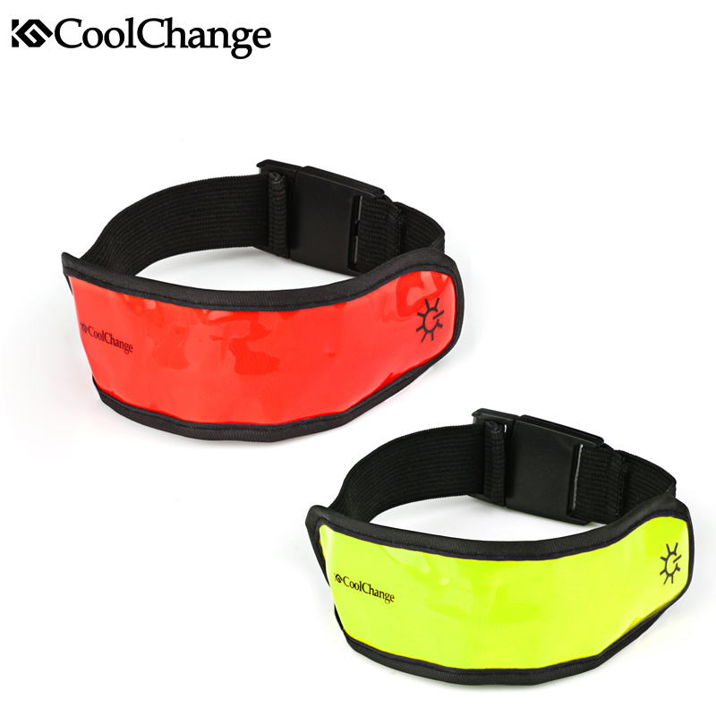 CoolChange  Reflective Strips Warning Light Bind Reflective Arm Leg Band Wrist Tape Safe for Riding, 2Colors<br><br>Aliexpress