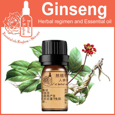 100% pure plant Herbal medicine oils Ginseng root herbal oil 5ml Essential oils traditional Chinese medicine oil(China (Mainland))