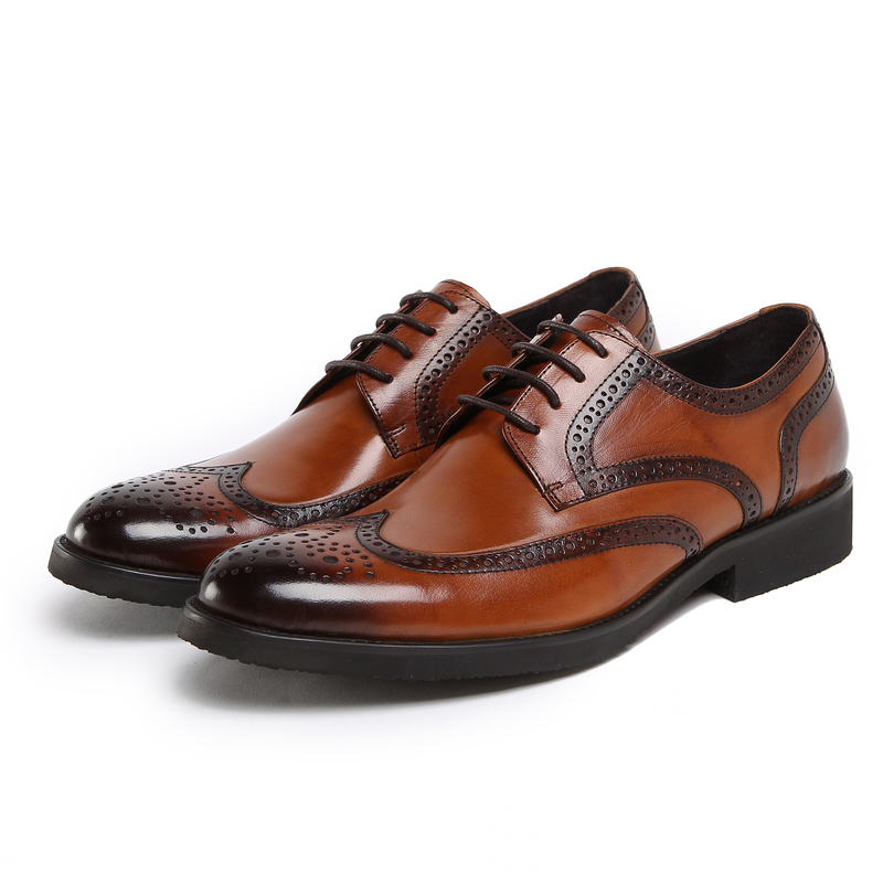 Fashion Coffee/brown/ Black mens business shoes genuine leather wedding shoes Breathable dress shoes mens oxfords shoes(China (Mainland))