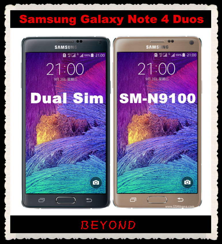 """Samsung Galaxy Note 4 Duos N9100 Original Unlocked 3G&4G GSM Android Phone Note4 Dual Sim N9100 Quad-core 5.7"""" 16MP WIFI GPS(China (Mainland))"""