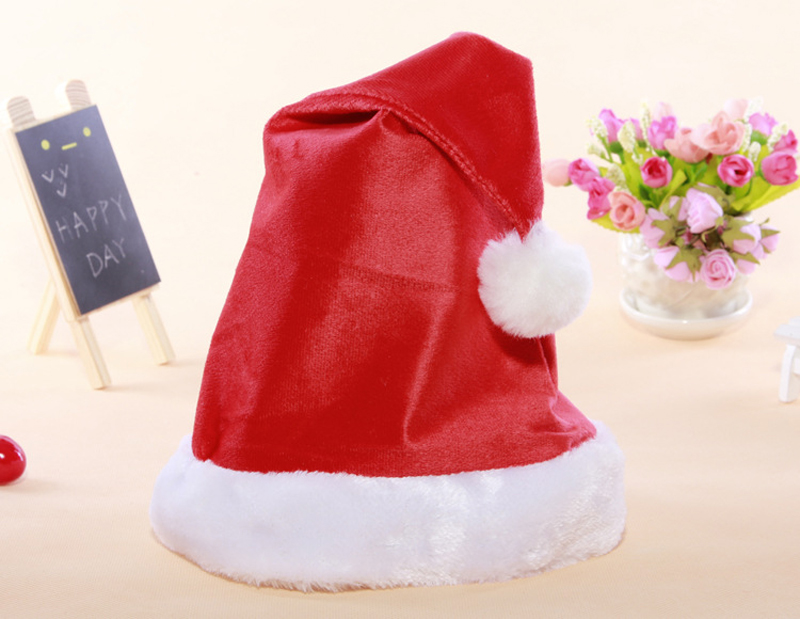 24pcs wholesale Santa Claus Cloth Caps Gift Christmas Hat Christmas Decoration Supplies New Year Christmas Decoration Ornaments(China (Mainland))
