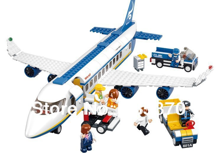 Free shipping sluban 483pcs air plane passenger airport building block bricks boy toy compatible with lego NO ORIGINAL PACKING(China (Mainland))