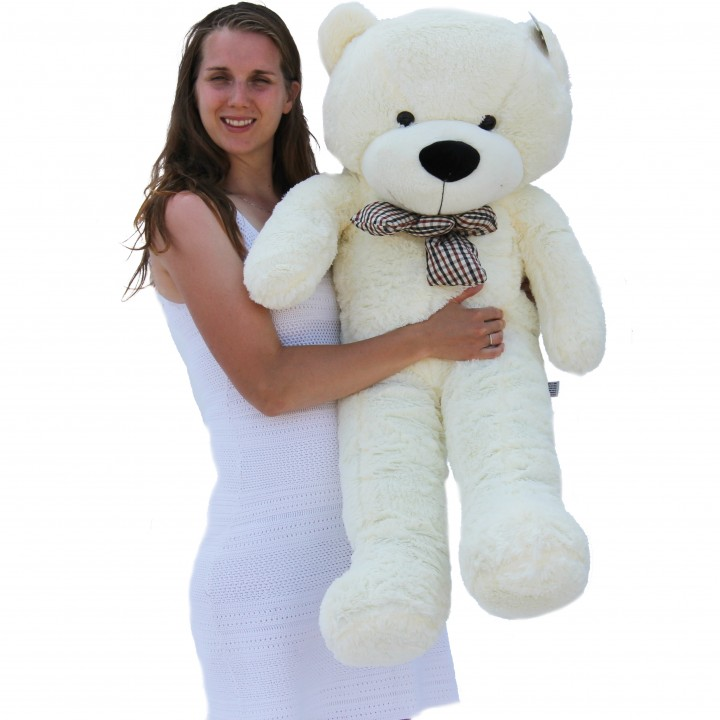 "Joyfay 47"" 120cm White Giant Teddy Bear 1.2m Huge Stuffed Plush Toy Big Soft Toy Best Gift for Birthday Valentine Anniversary(China (Mainland))"