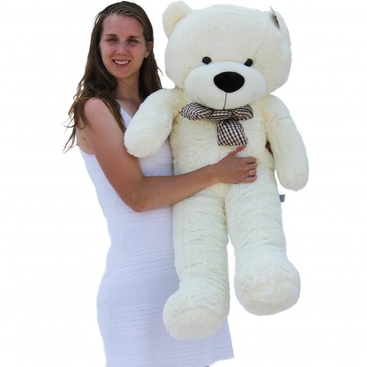 "Joyfay 47"" 120cm White Giant Teddy Bear 1.2m Huge Stuffed Plush Toy Big Soft Toy Best Gift for Birthday Valentine Anniversary(China (Mainland))"