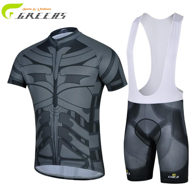 2016 Grey Cool men Cycling clothing /bike sport bicycle road Cycling jersey sets short sleeve/ Cycling wear/Breathable/Bib pants(China (Mainland))