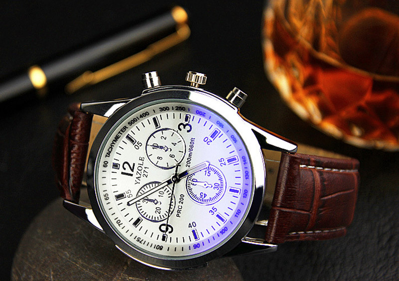 faux band unisex white leather watches black watch women brown buckle men item s strap