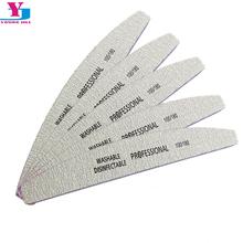 5Pcs/Lot Nail File 100/180 Sanding Buffer Block Pedicure Manicure Buffing Polish Beauty Tools Professional Nail Files Grey Boat(China (Mainland))