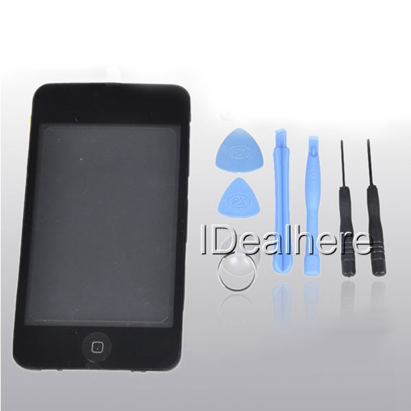 Best Quality Black Full Set LCD Display +Screen Touch Digitizer Assembly with Free Repair Prying Tools for iPod Touch 3(China (Mainland))
