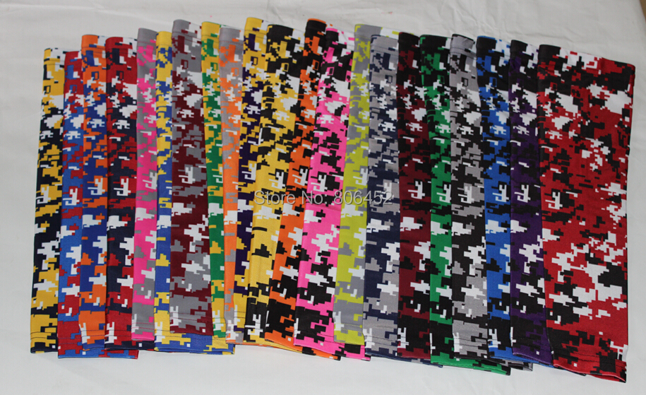 hot selling 2015 New arrival 10pcs Compression Sports Arm Sleeve Digital Camo Baseball Football Wicking Neon sleeves(China (Mainland))