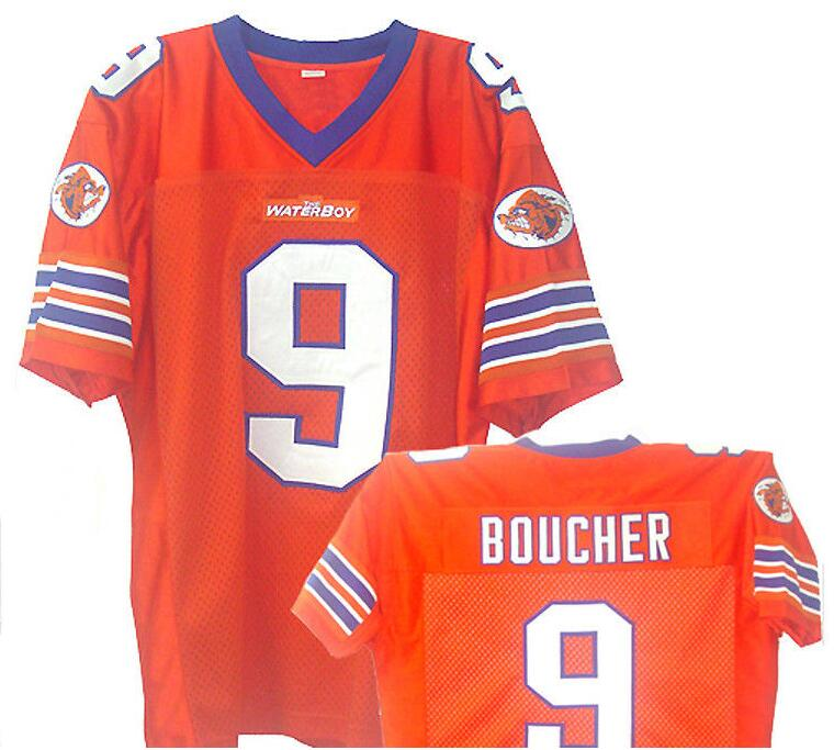 Bobby Boucher #9 The Waterboy Movie Jersey Forrest Gump 44 University of Alabama Football Jersey Al Bundy S-XXXL(China (Mainland))