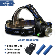 LED Head Lamp/Miners Light 10w CREE xm l t6 headlight zoom in lighting adjustable 4 modes