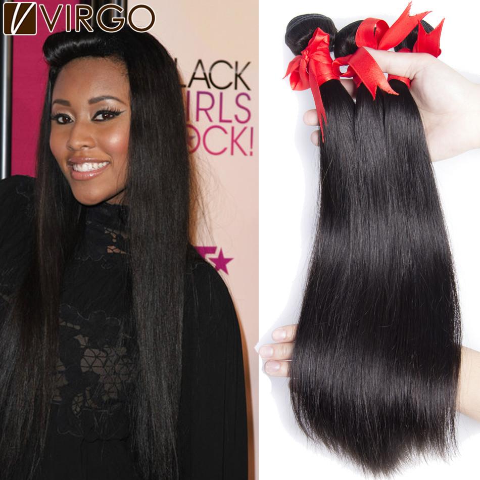 Mink 7A Peruvian Virgin Hair 4 Bundles Unprocessed Peruvian Virgin Hair Straight Queen Hair Products Peruvian Human Hair Weave