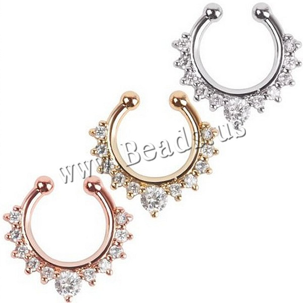 New Arrival Crystal Nose Ring Fake Septum Piercing Hanger Clip On Body Jewelry Nose Hoop<br><br>Aliexpress