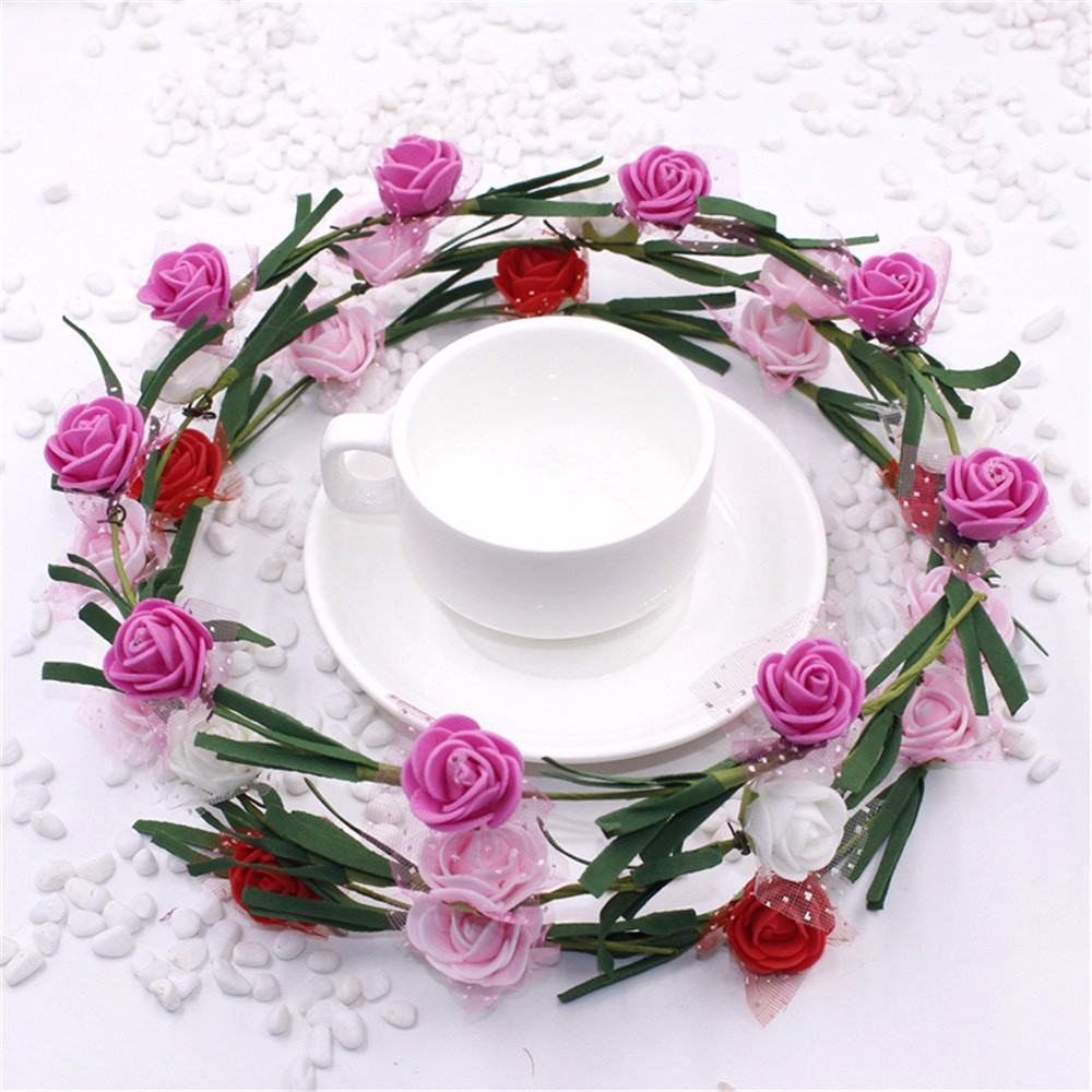 2016 50pcs High Quality Artificial Wreath Flower Small Berry Rattan Rivera Lipstick 27 Fancy Primrose Pip Garland For Diy Party Wedding Banquet Decoration Us707
