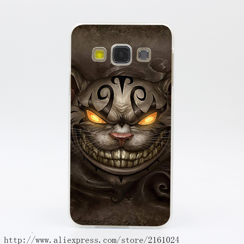 1704U Alice Madness Returns Cheshire Cat Ps Hard Case Cover for Galaxy A3 A5 7 8 J5 7 Note 2 3 4 5 Grand 2 & Prime(China (Mainland))