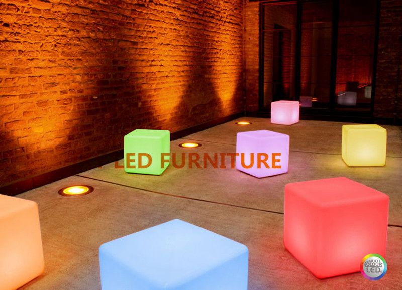 20*20*20cm, rechargeable led cube,cube chairs, Fashion Commercial Furniture(China (Mainland))