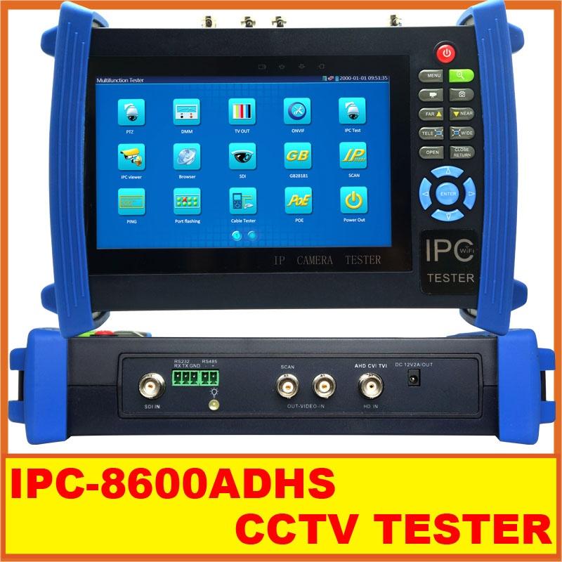 7 Inch Touch Screen IP Camera CCTV Security Tester Monitor ONVIF AHD/TVI/CVI HDMI Camera Tester PTZ/POE/WIFI IPC-8600ADHS<br><br>Aliexpress
