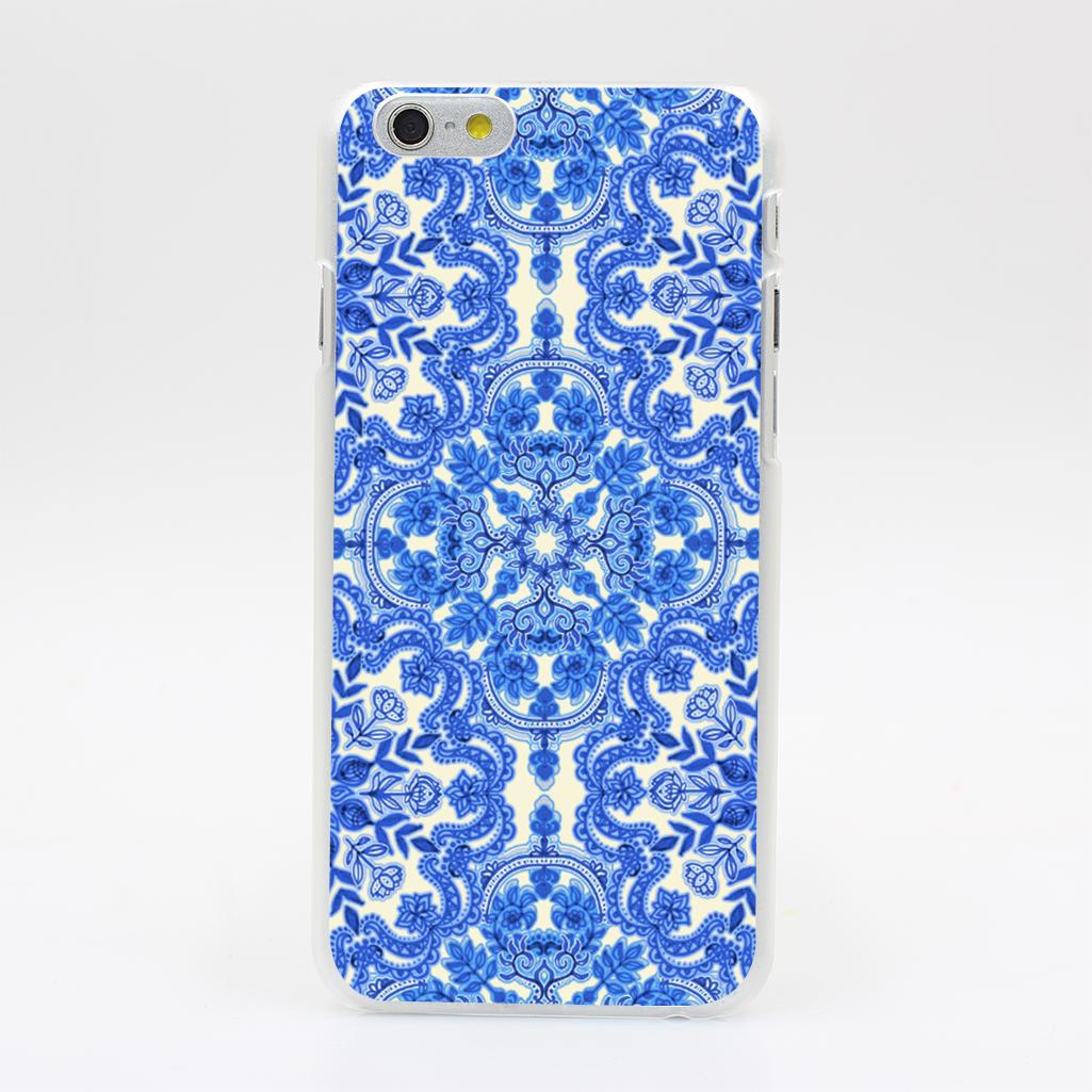 2150U Cobalt Blue China White Folk Art Pattern Hard Case Cover for iPhone 4 4s 5 5s SE 5C 6 6s Plus Skin Back(China (Mainland))