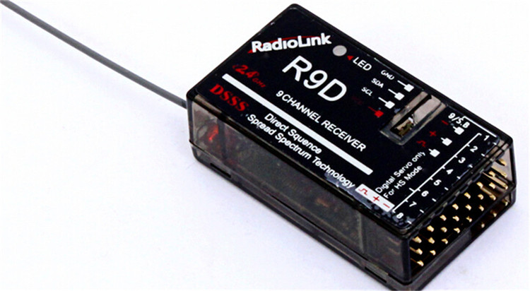 2.4G 9CH RadioLink AT9 transmitter with 9ch  R9D receiver support airplanes multi-axis rotor for free shipping