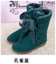 34 35 36 40 Women Autumn Winter Boots Genuine Leather Boots Youth Girls School Students Warm Small Size Plush Snow Boots 4 5 6 9