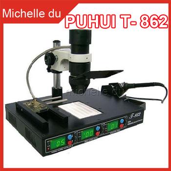 PUHUI T-862 3 in1 Rework Station Infrared Soldering SMT SMD IRDA BGA Welder Machine