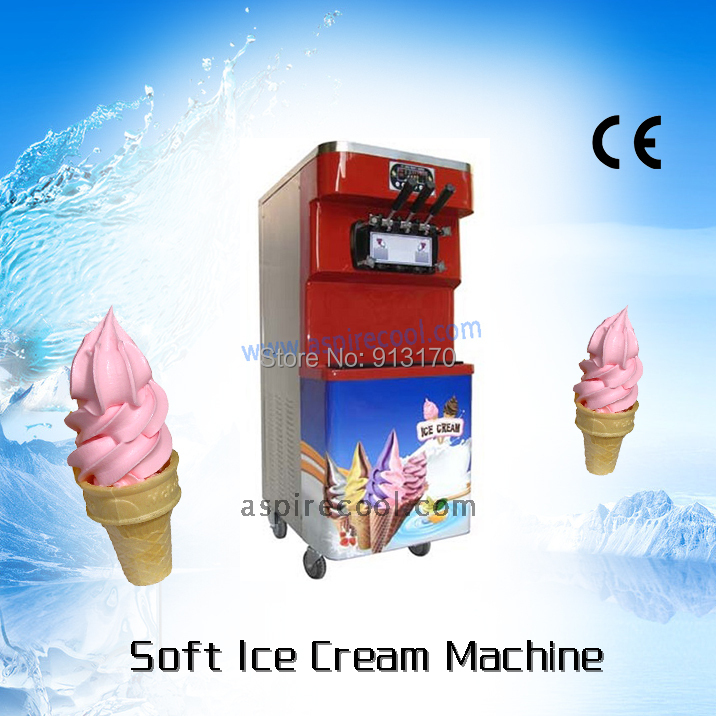 Modern Wine Red Color with Stainless Steel / Soft Ice Cream Machine BIG Capacity  45L  220V50Hz<br><br>Aliexpress