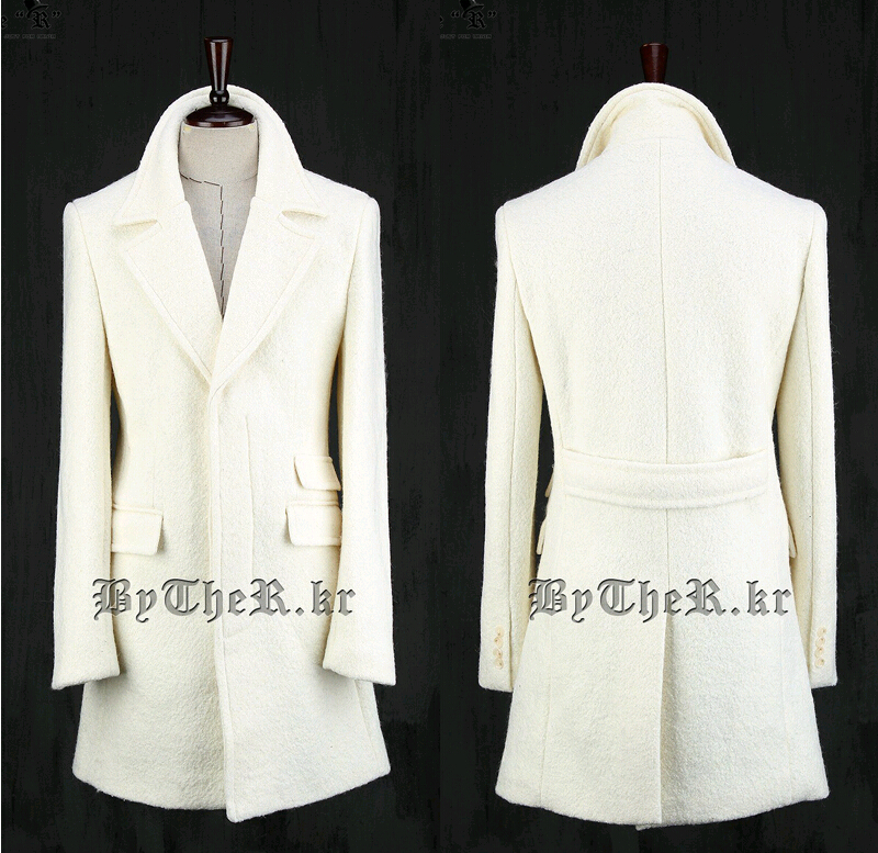 Collection White Pea Coat Mens Pictures - Reikian
