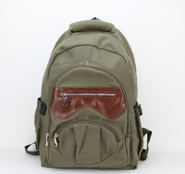 Hotsale Promotion 2015 New Hot Fashion Women's Vintage Canvas Satchel Backpack Shoulder School Bag Travel Bags H005 armygreen(China (Mainland))