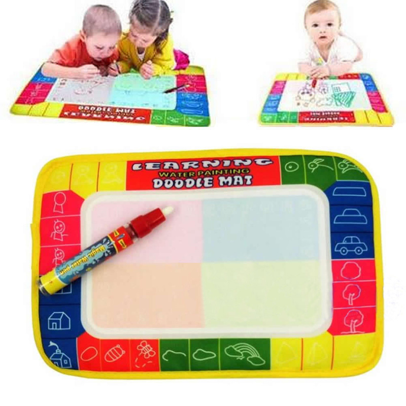 Upgrade Water Painting Doodle Mat 4 Color Magic Pen Aqua Baby Drawing Sheet Kids Learning Writing Board #70143(China (Mainland))